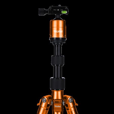 Rollei Compact Traveler No.1 - kit trepied + cap cu bila , negru / portocaliu [2]