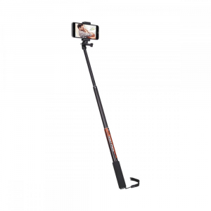 Rollei Smart Photo Selfie Stick cu suport de telefon si mini trepied ,  portocaliu/negru3