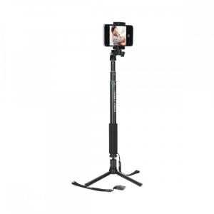 Rollei Smart Photo Selfie Stick cu suport de telefon si mini trepied , verde/negru0