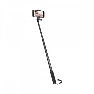 Rollei Smart Photo Selfie Stick cu suport de telefon si mini trepied , verde/negru3