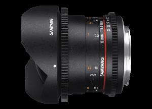Samyang 8mm T3.8 VDSLR UMC Fish-eye CS II - Canon EF-S - Cine Lens1