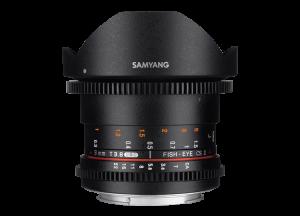 Samyang 8mm T3.8 VDSLR UMC Fish-eye CS II - Canon EF-S - Cine Lens0