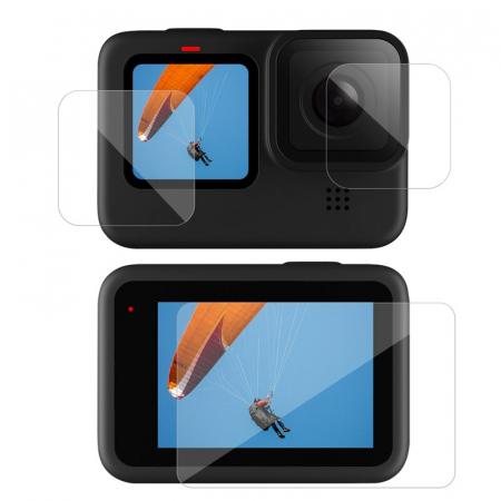 Set folii de protectie pentru ecranele GoPro Hero 9 transparent - negru - GP-FLM-901 [2]