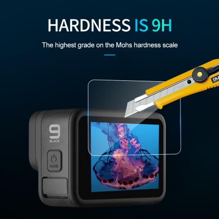 Set folii de protectie pentru ecranele GoPro Hero 9 transparent - negru - GP-FLM-901 [12]