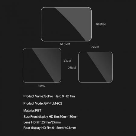 Set de folii de protecție a ecranului ultra transparente pentru Gopro9 - GP-FLM-902 [4]
