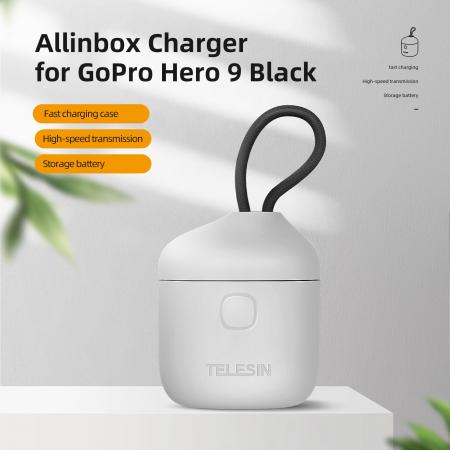 All-in Box Incarcator  & Cititor Card microSD & Cutie de pastrare pentru baterii GoPro Hero9 (fără baterie) - GP-BTR-904 [1]