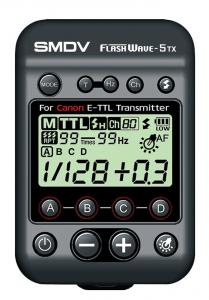 SMDV FlashWave-5 TX - transmiter TTL pentru blitz-ul Briht 360 - patina Canon0