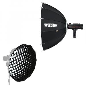 SMDV Speedbox-A110 , softbox dodecagon + GRID , cu montura SB-07 pt blitz-ul BRiHT 360 TTL0