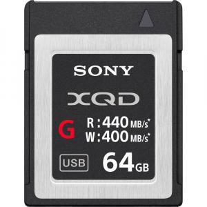 Sony XQD seria G 64GB, citire 440MB/s, scriere 400MB/s0