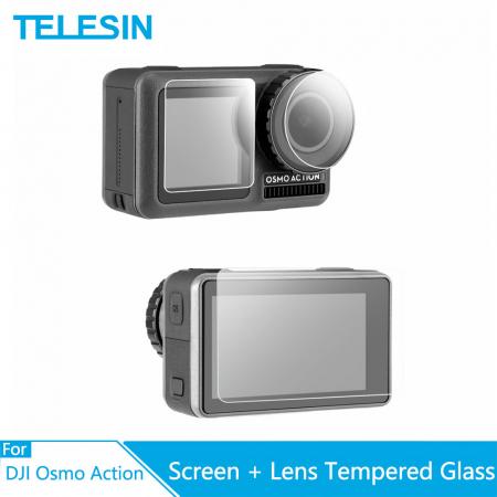 Set ecran din sticlă tratată și capac protector pentru obiective pentru DJI OSMO - OS-TFM-003 [3]