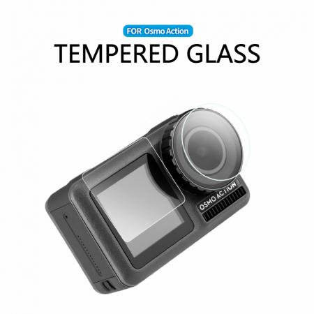 Set ecran din sticlă tratată și capac protector pentru obiective pentru DJI OSMO - OS-TFM-003 [1]