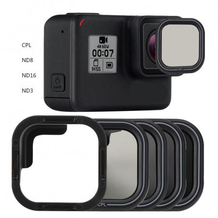 TELESIN Set 4 filtre CPL / ND8 / ND16 / ND32 pentru obiective GoPro HERO 9 - GP-FLT-903 [2]