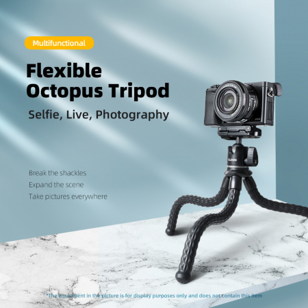 TELESIN Suport telefon/dslr, trepied multifuncțional cu brate flexibile de tip Jobby -  TE-TRP-001 [0]