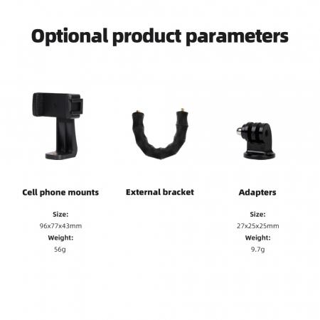 TELESIN Suport telefon/dslr, trepied multifuncțional cu brate flexibile de tip Jobby -  TE-TRP-001 [17]