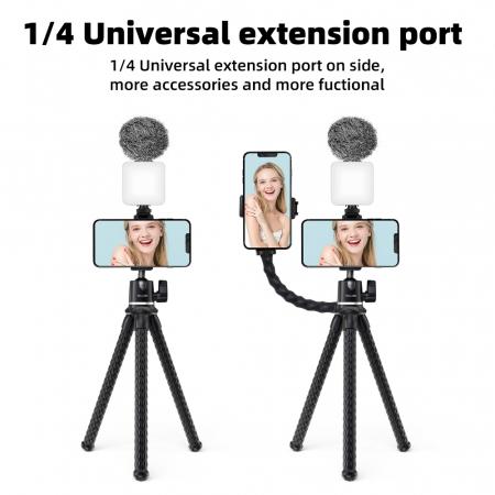 TELESIN Suport telefon/dslr, trepied multifuncțional cu brate flexibile de tip Jobby -  TE-TRP-001 [9]