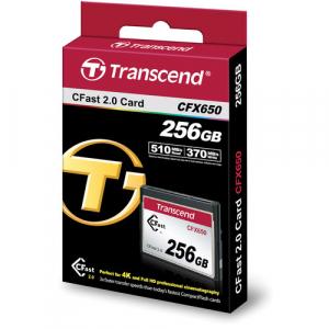 Transcend CFast 2.0 CFX650 256GB, citire 510MB/s, scriere 370MB/s1