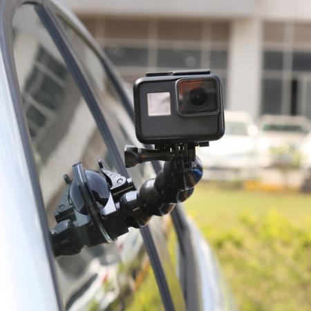Suport flexibil pentru camere de actiune cu sistem de prindere cu ventuză pentru autovehicule - GP-SUC006 [1]