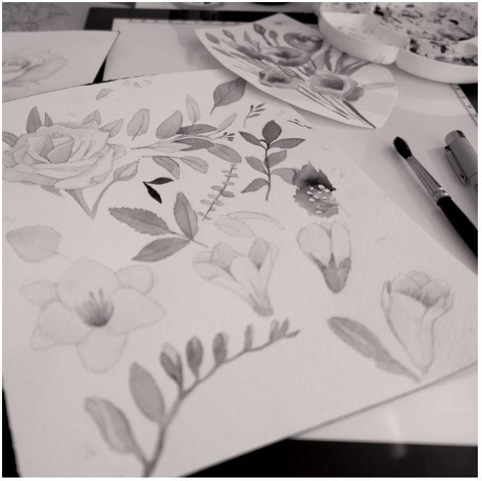 Paturica Bebelusi Pentru Scaun Auto Night Flowers MKZ343 [3]