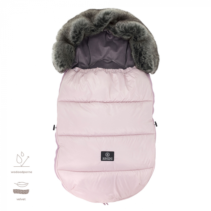 Sac  De Iarna Pentru Carucior (Impermeabil) Powder Pink MKZ39 [0]