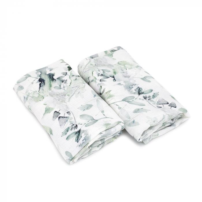 Set Museline din Bambus 100% - Sage Green MKZmus6 [0]
