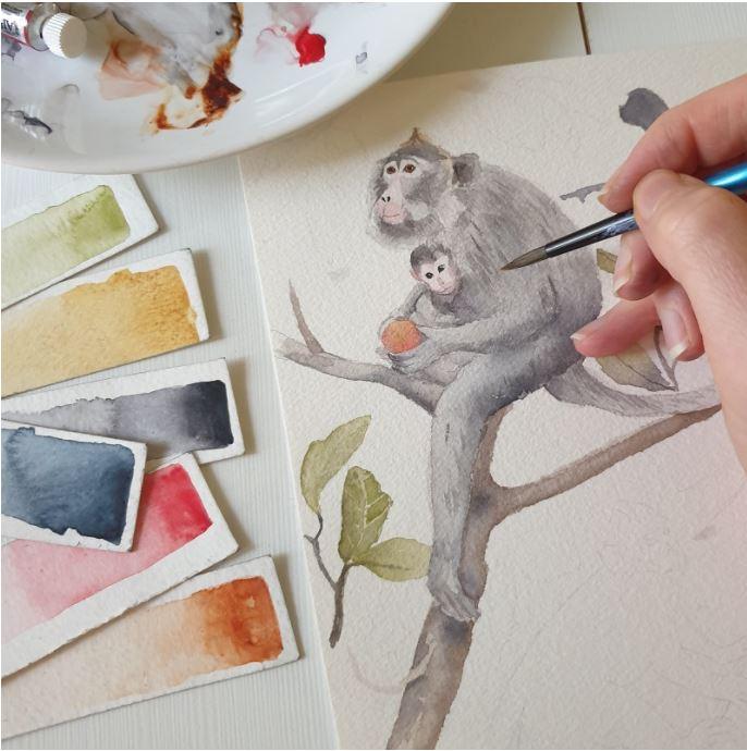 Organizator Patut Bebelusi Monkeys MKZ2145 [1]