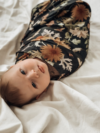 Muselina Bebelusi din Bambus Vintage Flowers MKZa15a [2]
