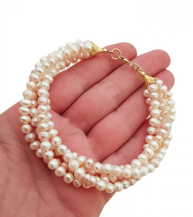 Bratara argint perle naturale [1]