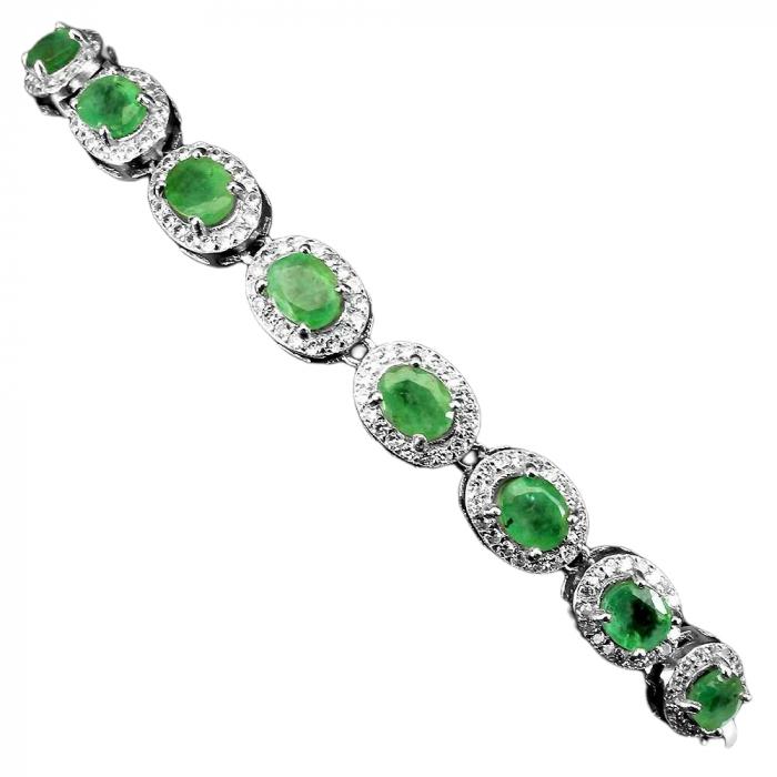 Bratara argint smarald [1]
