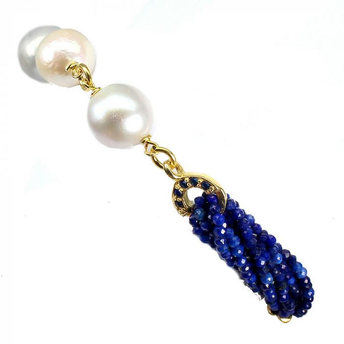 Bratara argint lapis lazuli [2]