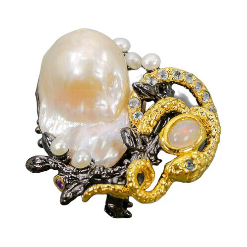 Brosa argint perla baroca [0]