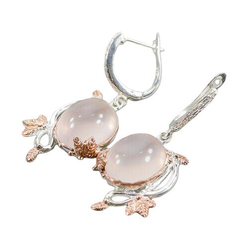 Cercei argint cuart roz [1]