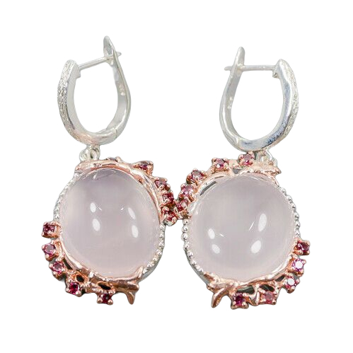 Cercei argint cuart roz [0]