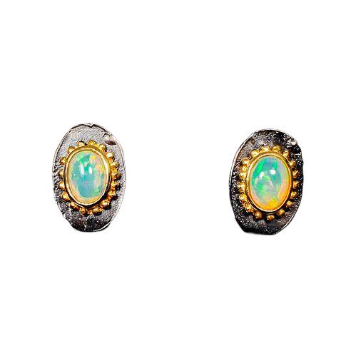 Cercei argint opal [0]