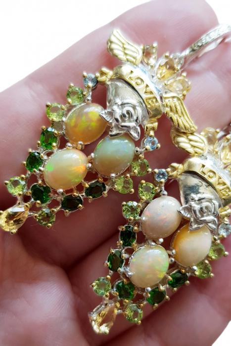 Cercei argint opal [2]