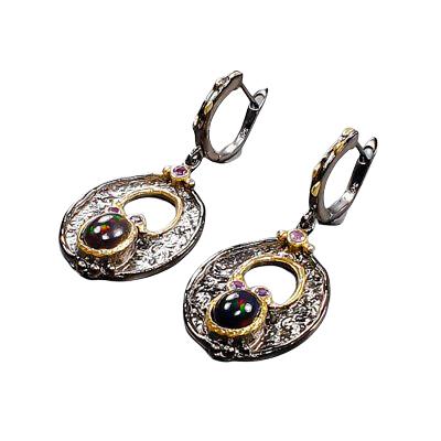 Cercei argint opal negru [1]