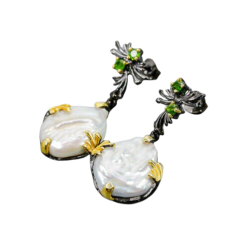 Cercei argint perle baroce [1]