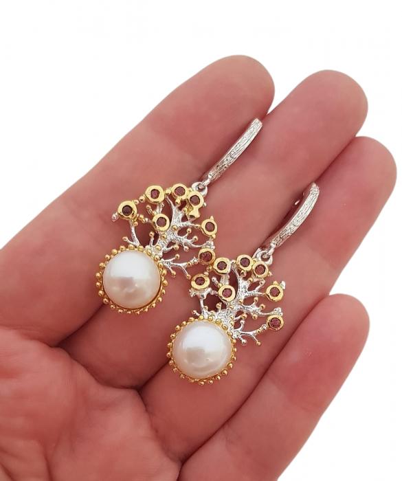 Cercei argint perle naturale [2]