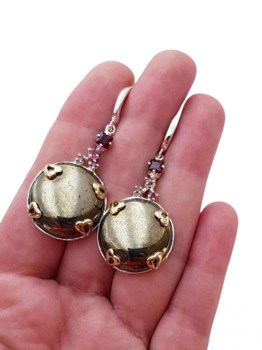 Cercei argint pirita [2]