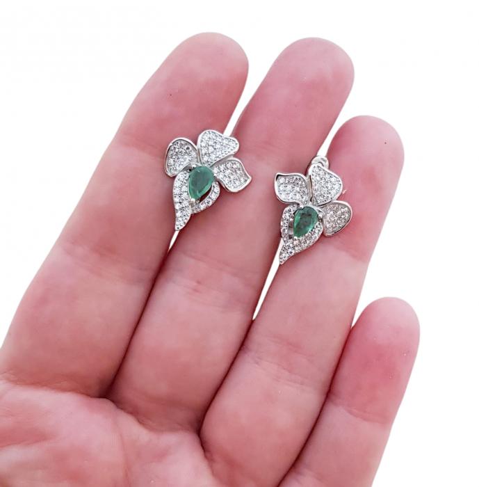 Cercei argint smarald [3]