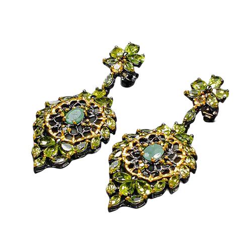 Cercei argint smarald handmade [1]
