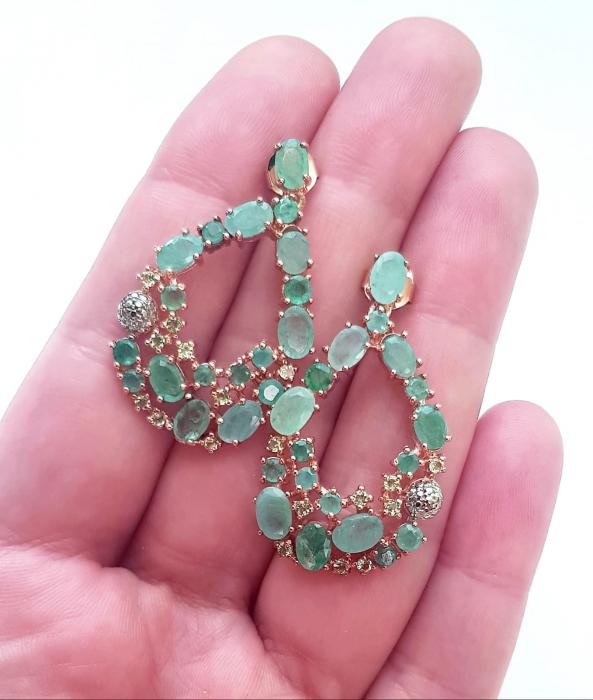 Cercei argint smarald natural [2]
