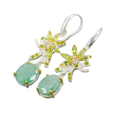 Cercei argint smarald natural [1]