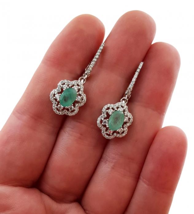 Cercei argint smarald [2]