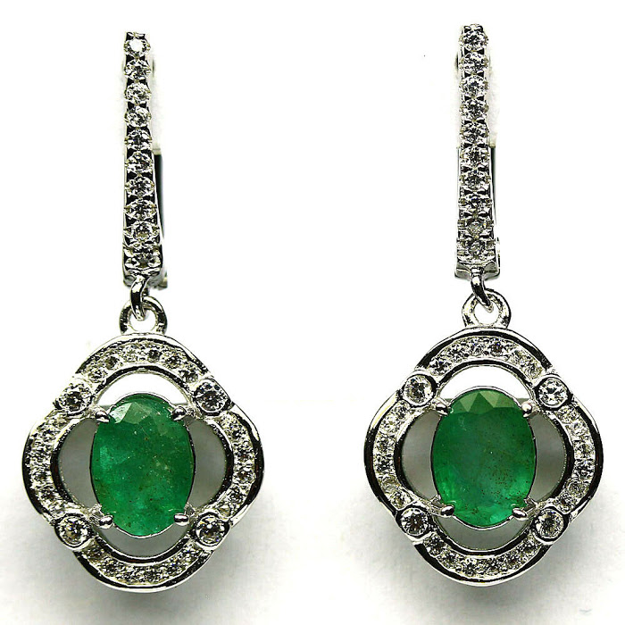 Cercei argint smarald [0]