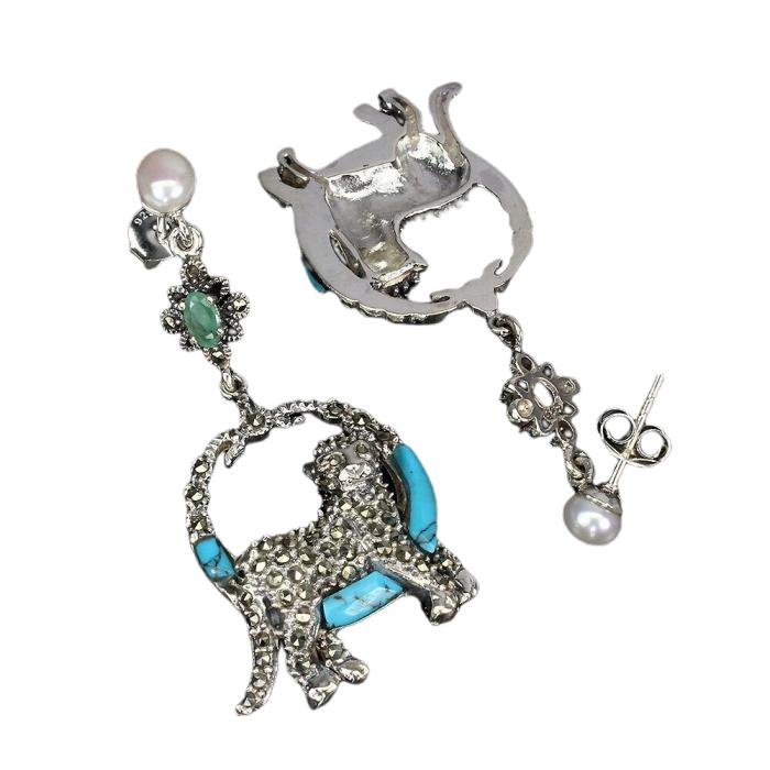 Cercei argint turqoise [1]