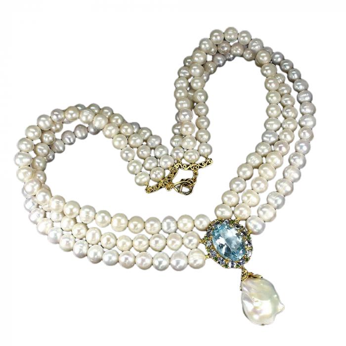 Colier perle naturale si topaz [1]