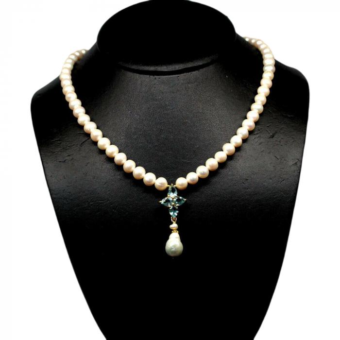 Colier argint perle [0]