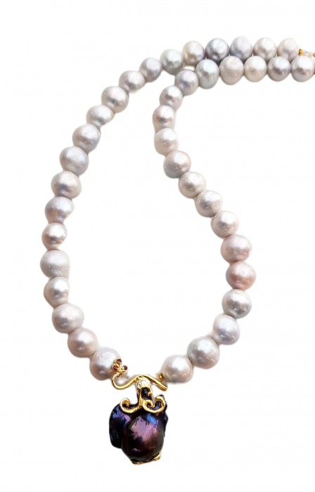 Colier argint perle  baroce [1]