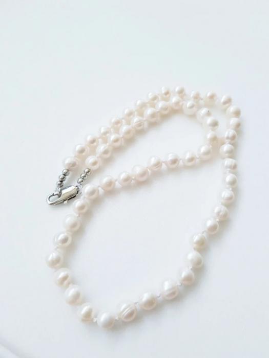 Colier cu perle naturale albe 1
