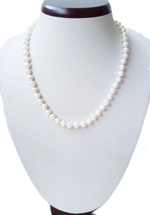 Colier cu perle naturale albe 0